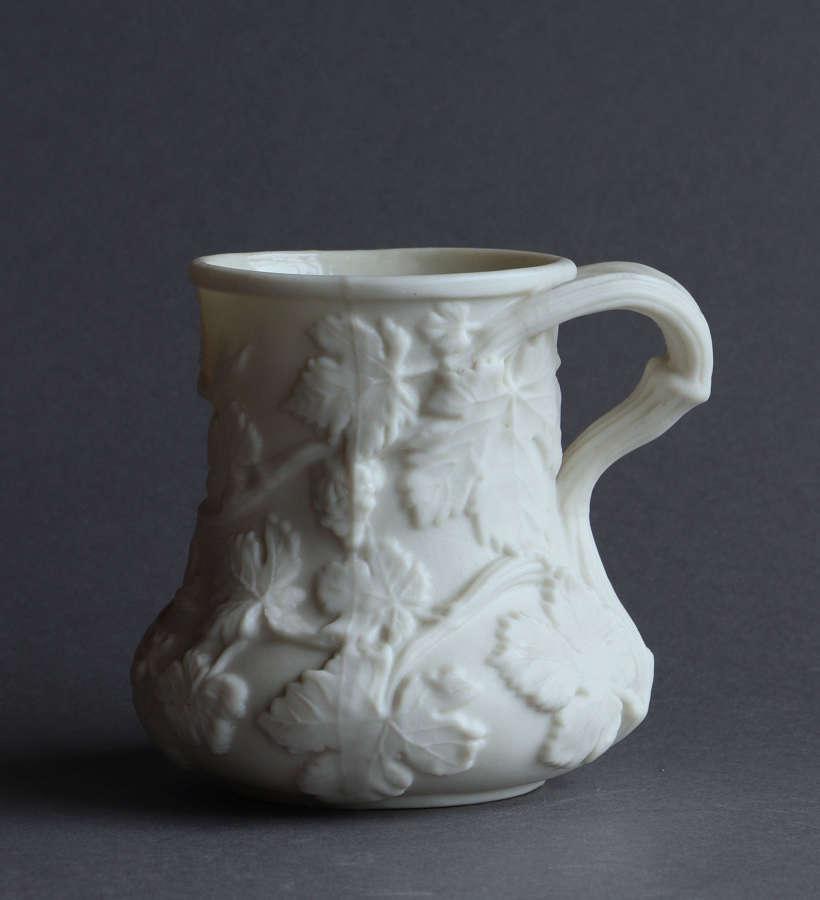A Copeland Parian mug