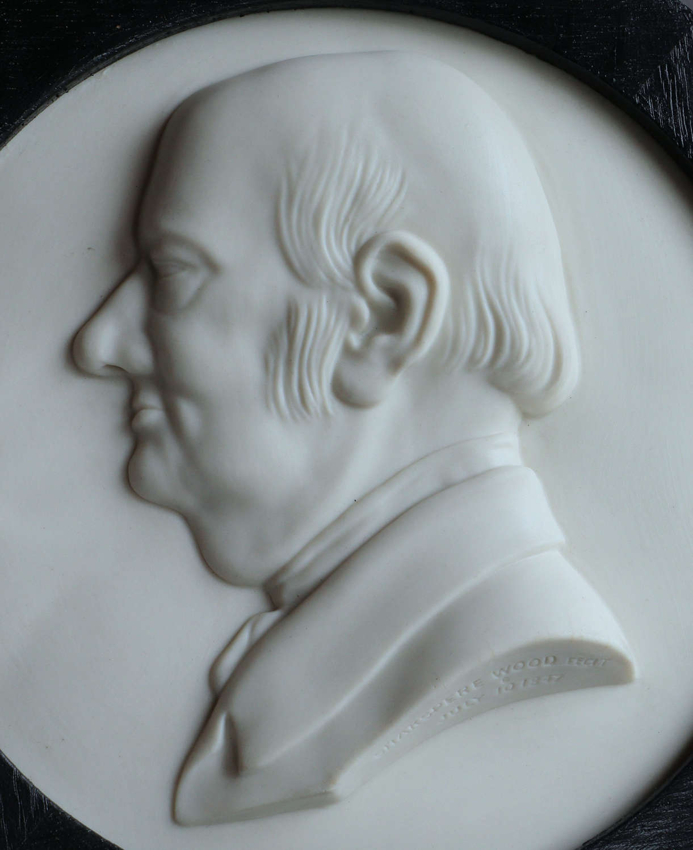 A rare Copeland Parian plaque of the Methodist leader Jabez Bunting
