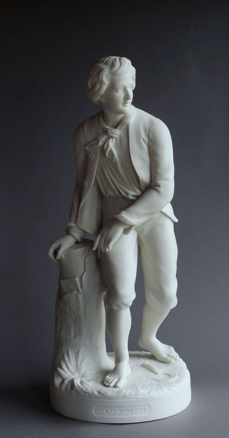 A large Copeland Parian figure of the Trysting Tree