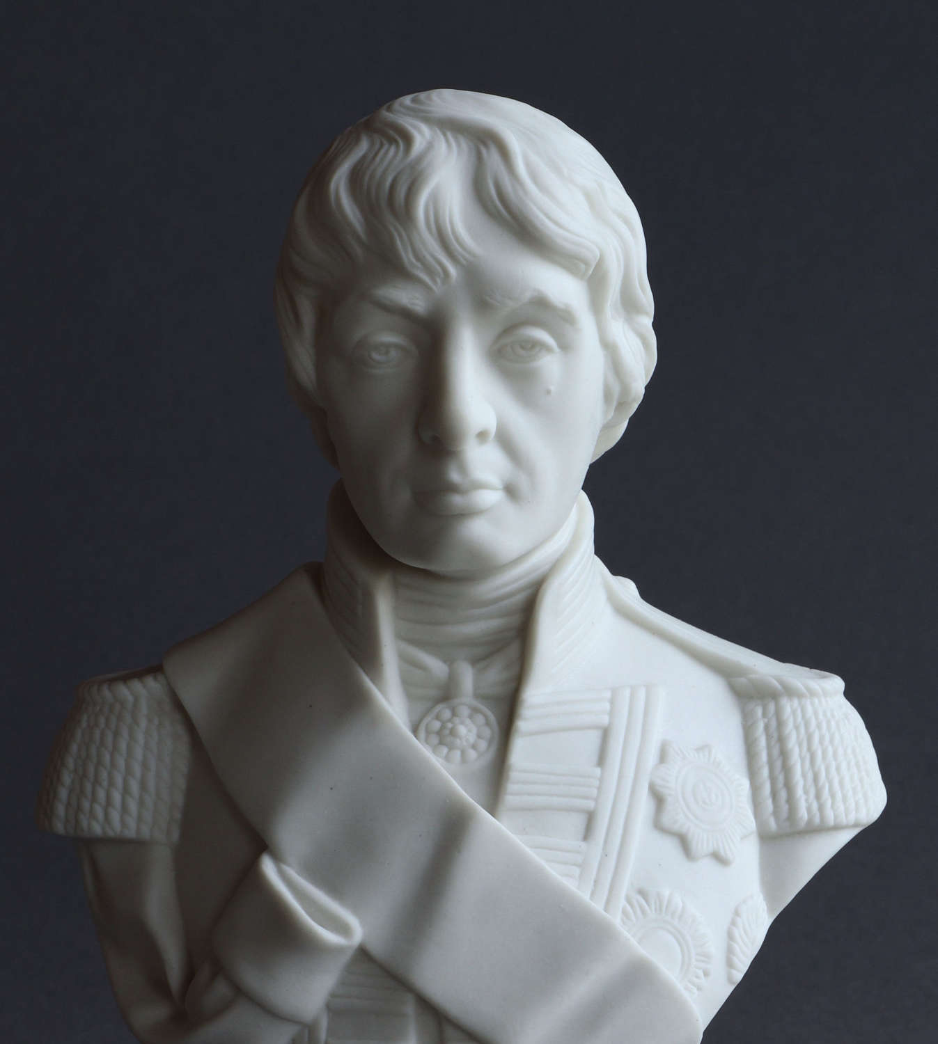 A small Parian bust of  Lord Nelson by Robinson & Leadbeater