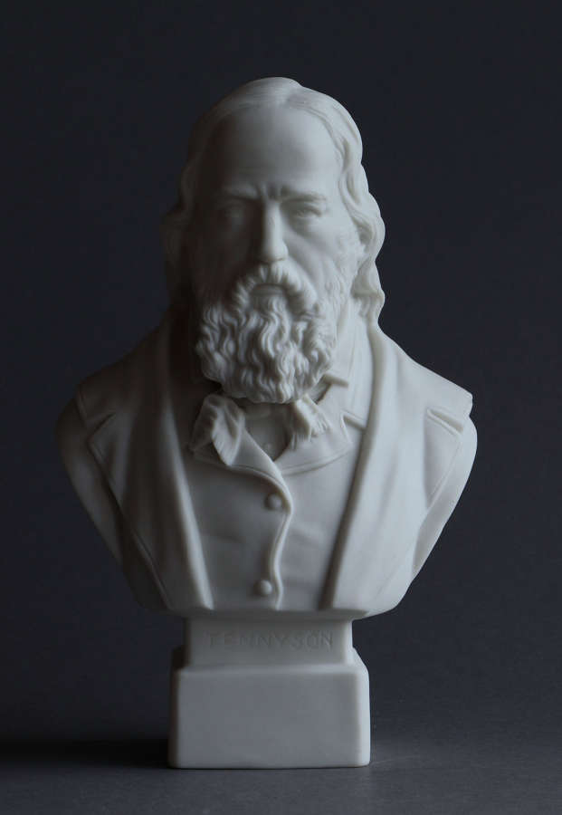 A small Parian bust of  Lord Tennyson by Robinson & Leadbeater