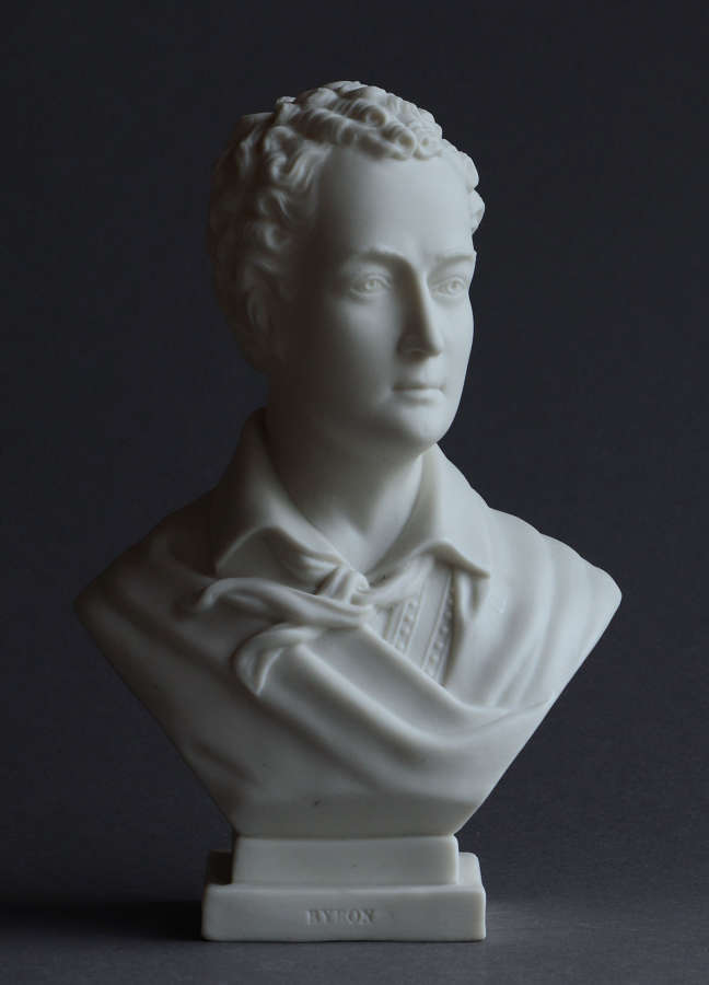 A small Parian bust of  Byron by Goss
