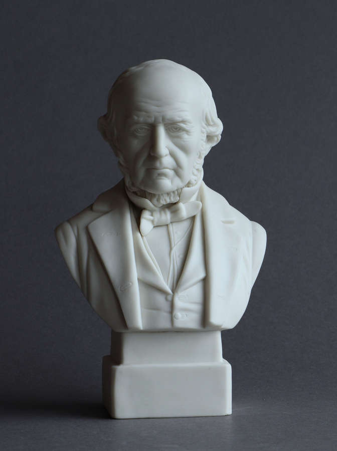 A little Parian Bust of Gladstone, possibly by Robinson & Leadbeater
