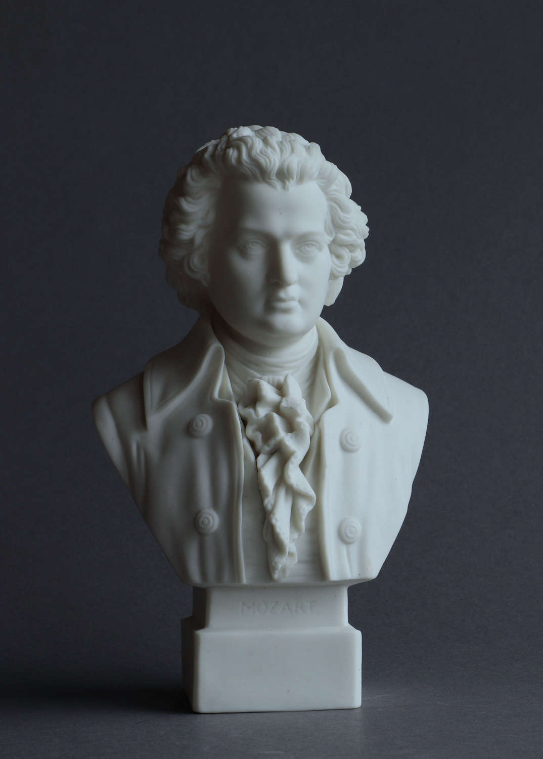 A small Parian bust of  Mozart by Robinson & Leadbeater