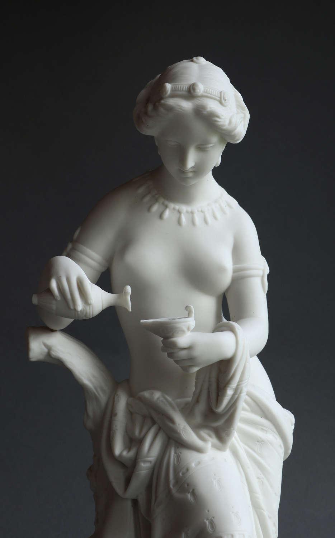 A Minton Parian figure of Psyche c1865