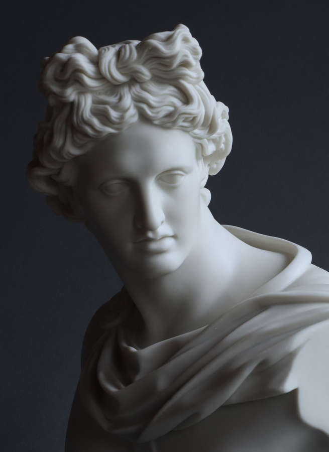 A good quality Parian bust of Apollo