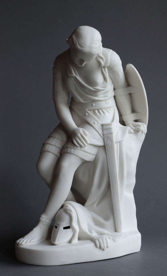 A Minton Parian Figure of Clorinda