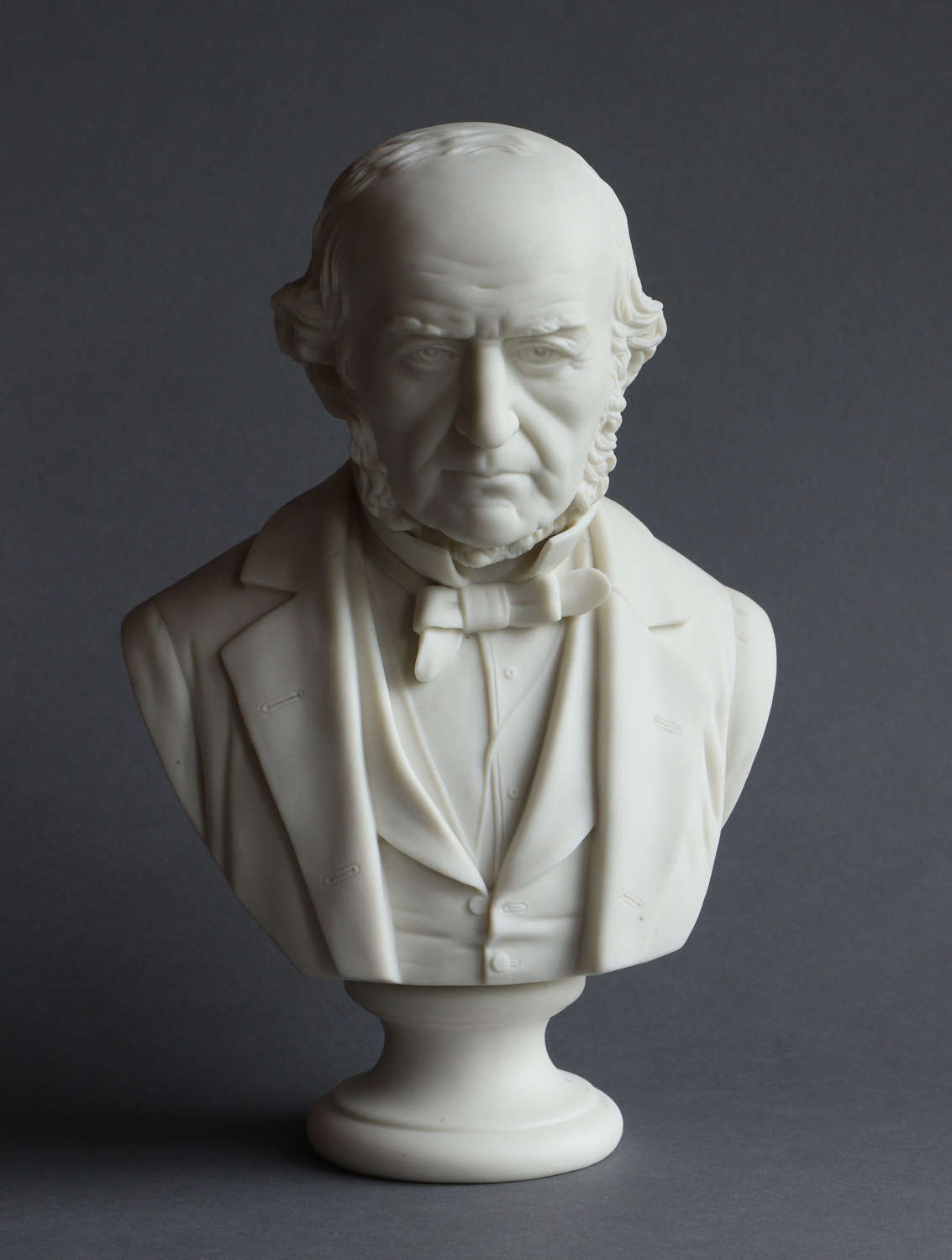 A medium Parian bust of Gladstone probably by R & L
