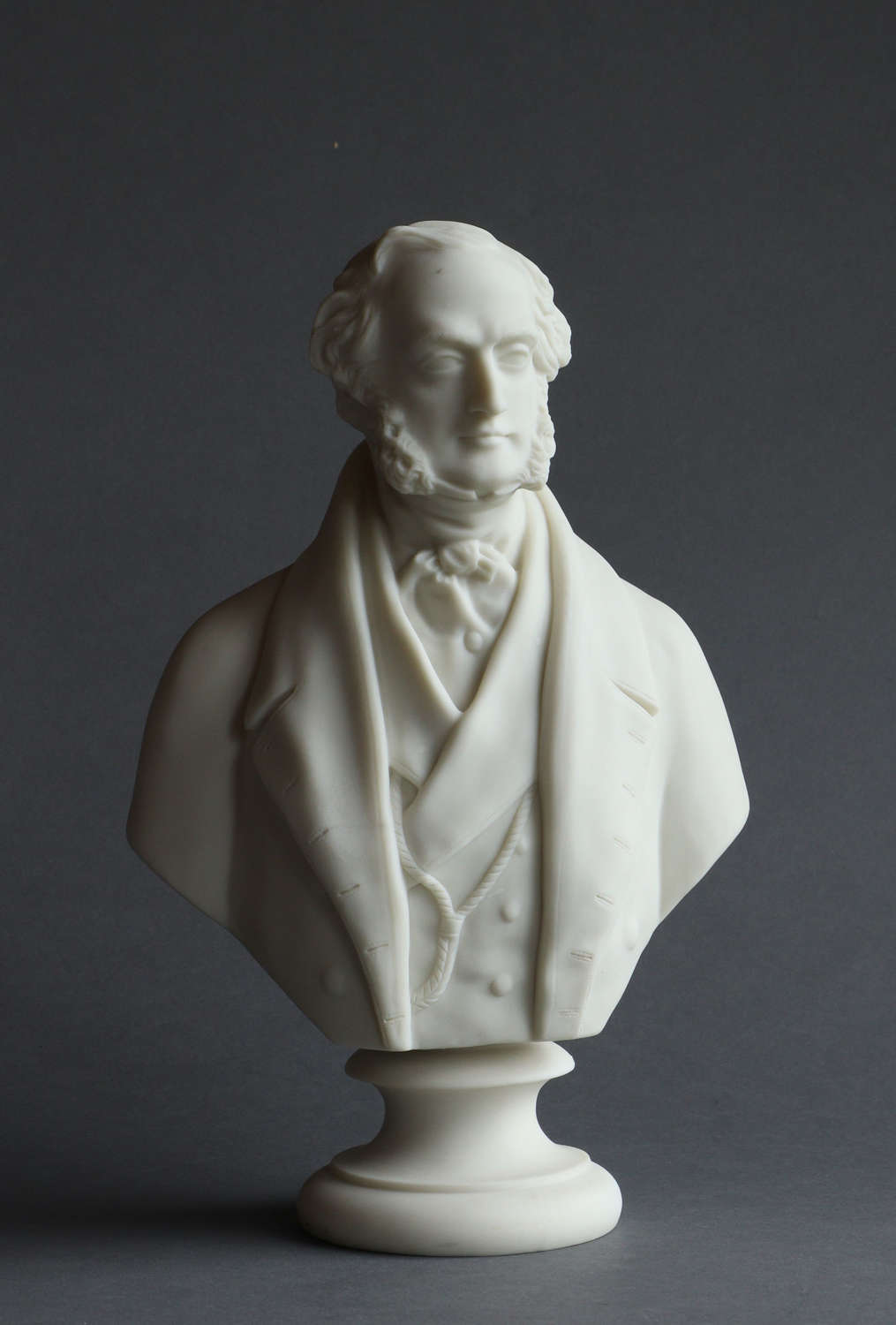 A Copeland Parian bust of Lord George Bentinck