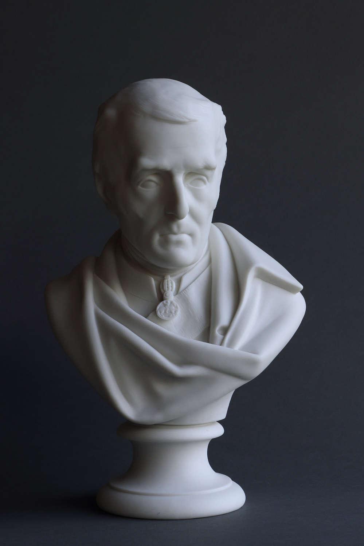 A good Parian bust of Wellington by Minton