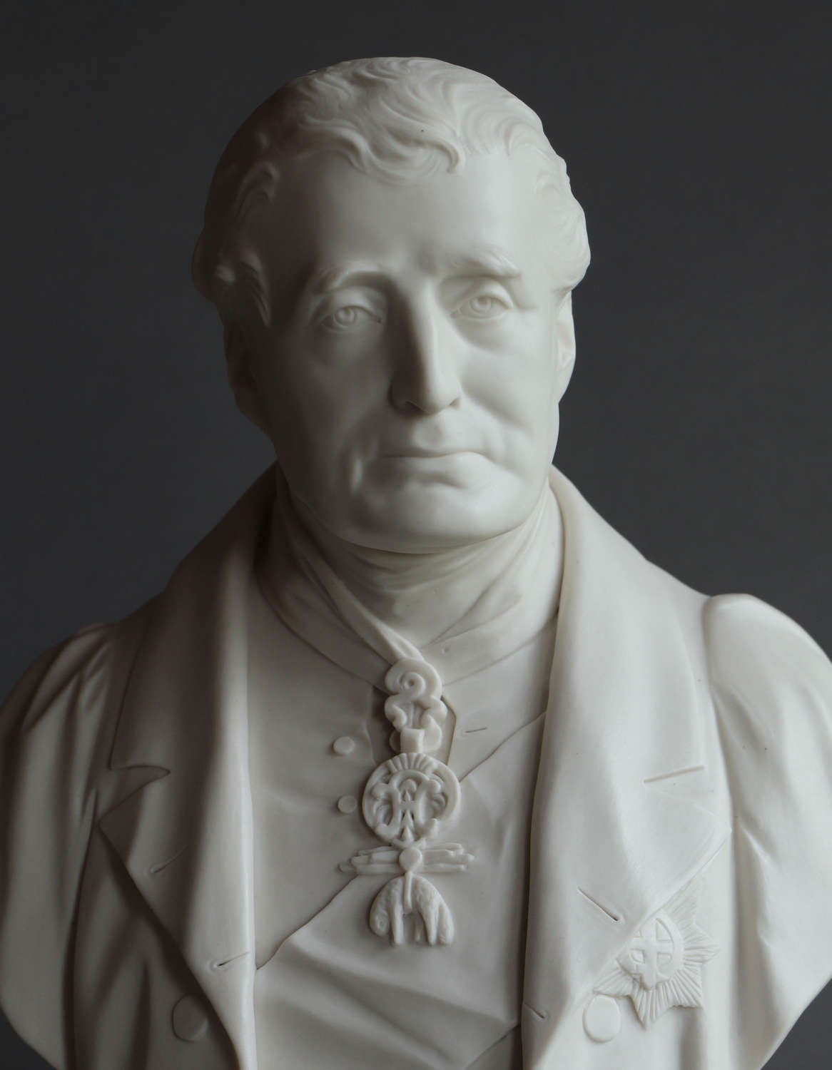Parian bust of the Duke of Wellington, probably Coalbrookdale